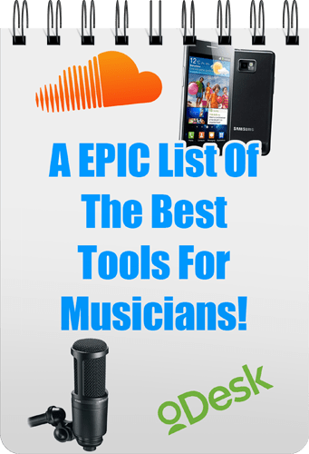A EPIC List Of The Best Tools For Musicians Free Ebook Cover