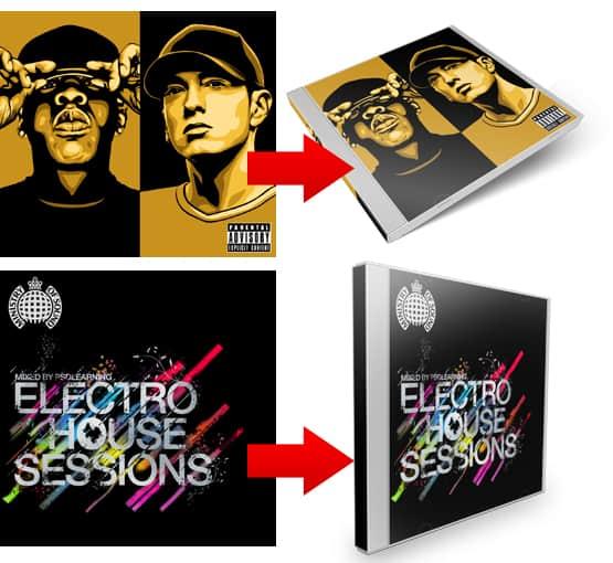 3D CD Cover Designs