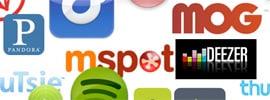Streaming services logos