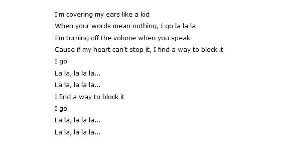 Give fans song lyrics