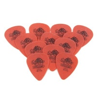 The best material for guitar picks is DuPont Delrin used in Tortex