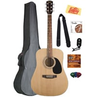 8 Fender Squier Acoustic Guitar Bundle with Gearlux Gig Bag