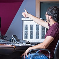 Working with a recording engineer