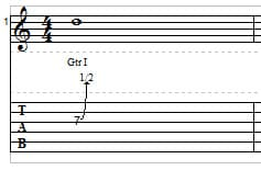 Guitar String Bending example 1
