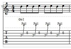 Guitar String Bending example 4