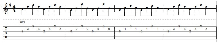 Playing three strings on the guitar - picking triads