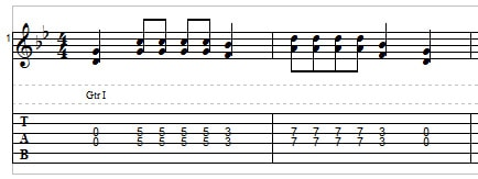 Playing two strings on the guitar - double stops