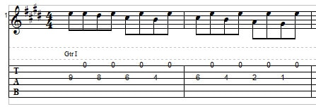 Playing two strings on the guitar - string skipping