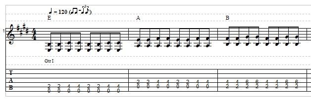 Blues guitar tab example 2