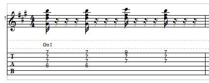 Funk guitar, example 1