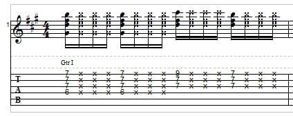 Funk guitar, example 2