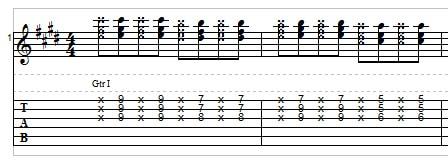 Reggae guitar, example 3