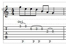 Legato guitar example 2