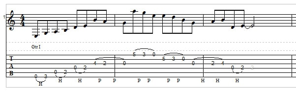 Legato guitar example 3
