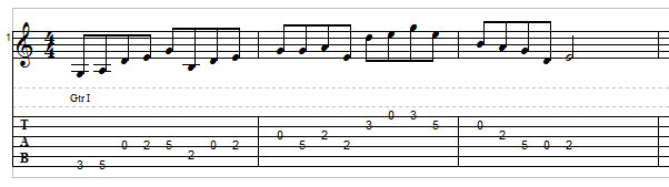 Open string lick example 3
