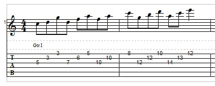Sweep picking for guitar exercise 2