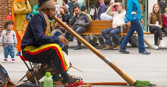 Earning tips as a street performer