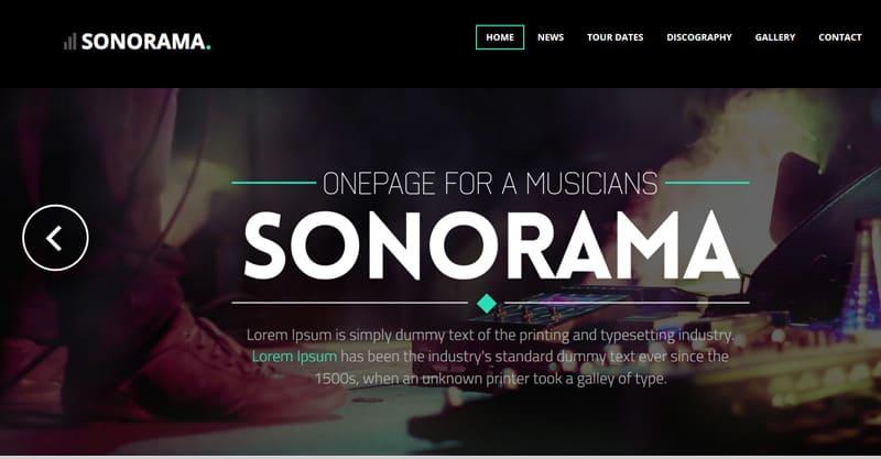 Sonorama – Music Band & Musician WordPress Theme