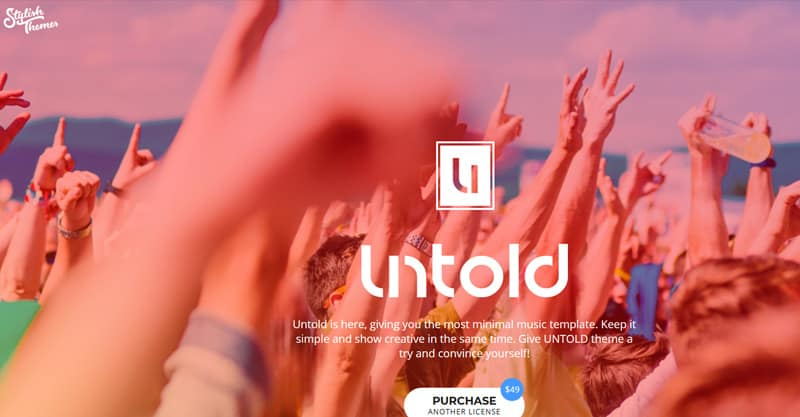 Untold – WordPress Theme For Bands And Musicians