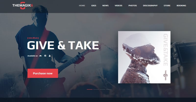 The Magic 6 – Music Band & Musician WordPress Theme
