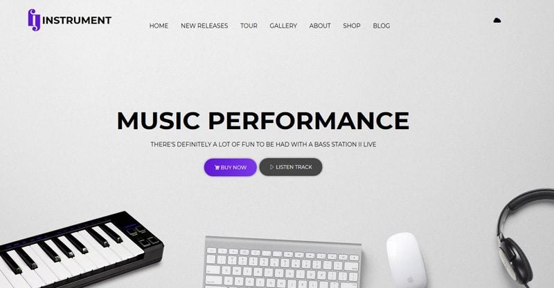 Instrument – Musicians, Deejays, Singers, Bands WordPress Theme