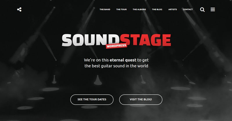 Sound Stage – A Professional WordPress Theme For Music & Bands