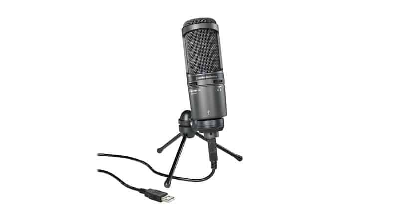 Audio-Technica AT2020USB+ Cardioid Condenser USB Microphone For Podcasting