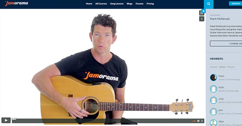 Inside the Jamorama Online Guitar Course
