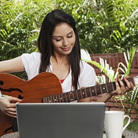 Practicing guitar for fun