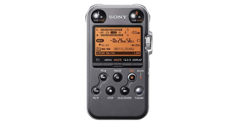 Sony PCM-M10 Portable Linear PCM Voice Recorder With Electret Condenser Stereo Microphones