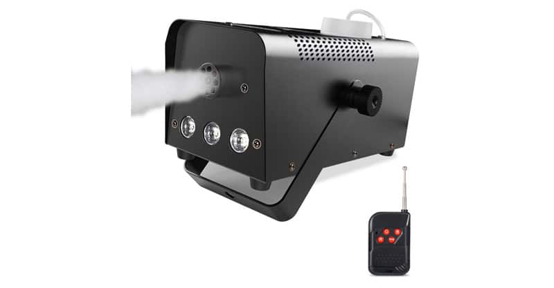 Theefun 400W Wireless Remote Control Portable Halloween And Party Fog Machine With Built-In Multi-Color LED Lights