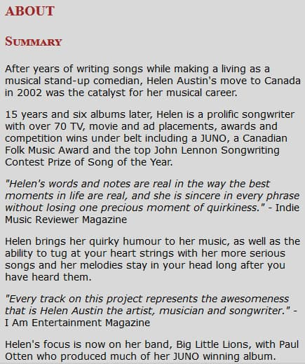 How To Write A Great Musician Bio By Yourself With Examples Music Industry How To
