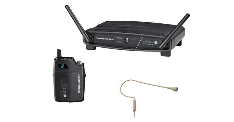 Audio-Technica System 10 ATW-1101/H92-TH Wireless Beige Headworn Microphone System