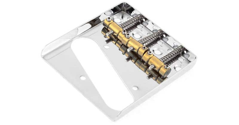 Timiy Musical Instruments Telecaster Electric 3 Brass Saddle String Guitar Chrome Bridge Assembly