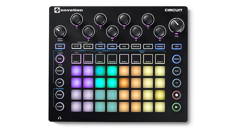 Novation Circuit Groove Box w/ Sampler Import: 2-Part Synth, 4-Part Drum Machine And Sequencer