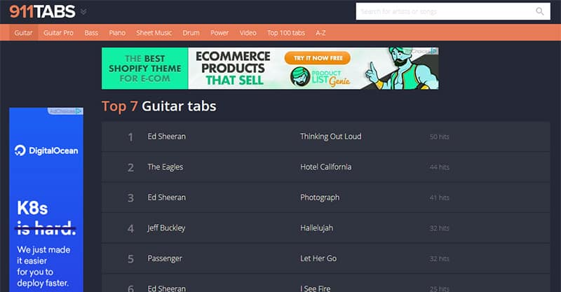 Finding the best free and accurate guitar tabs