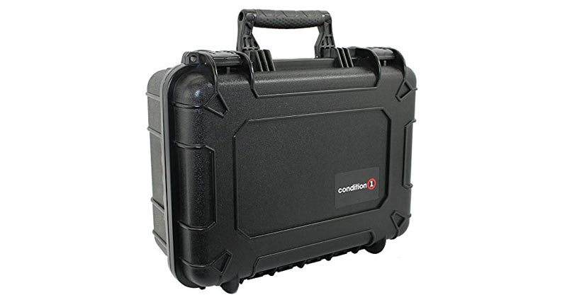 "Condition 1 14"" Medium #075 Black Waterproof Hard Case With DIY Customizable Foam"