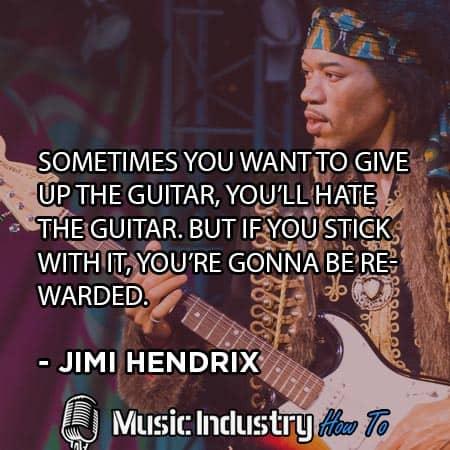 Guitar Quote 1 - Jimi Hendrix