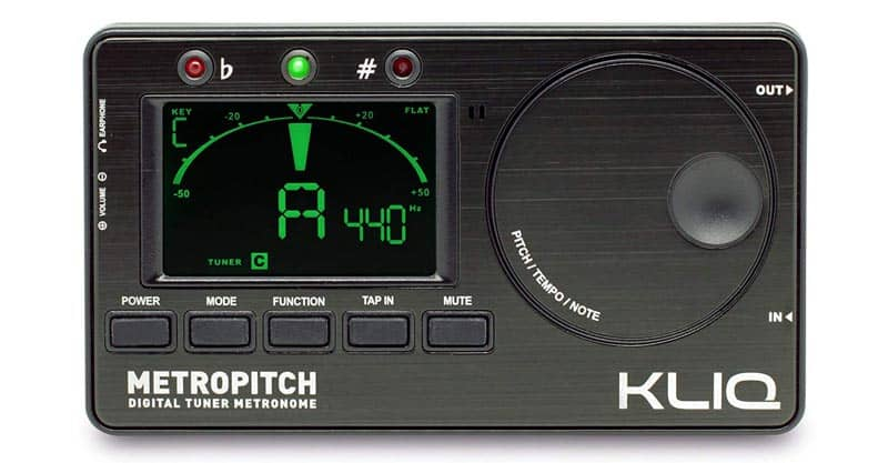 KLIQ MetroPitch – Metronome Tuner For All Instruments – With Guitar, Bass, Violin, Ukulele And Chromatic Tuning Modes