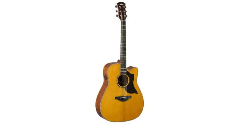 Yamaha 6 String Series A3M Cutaway Acoustic-Electric Guitar Mahogany, Vintage Natural, Dreadnought VN