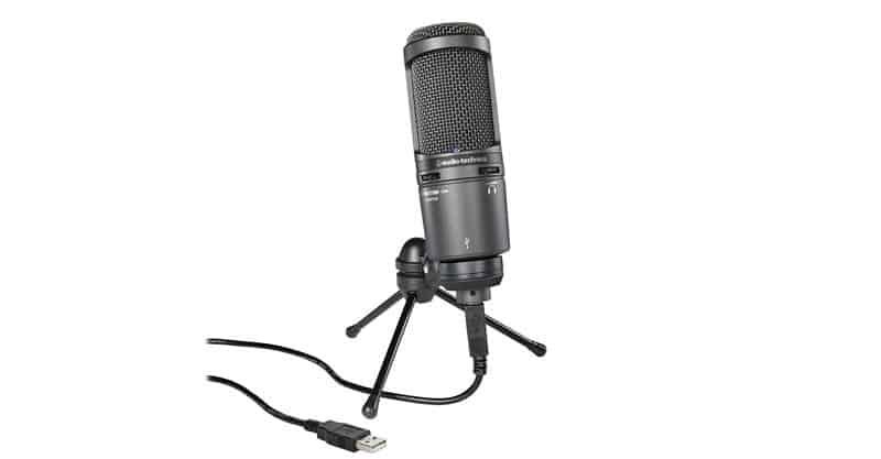 Audio-Technica AT2020USB PLUS Cardioid Condenser USB Microphone