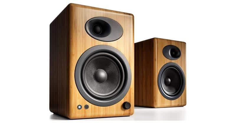 Audioengine A5 Plus Classic 150W Powered Bookshelf Speakers With Remote Control