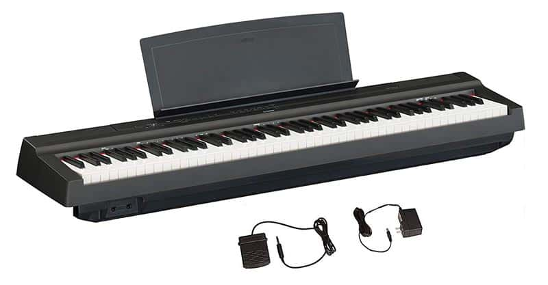 Yamaha P125 88-Key Weighted Action Digital Piano With Power Supply And Sustain Pedal