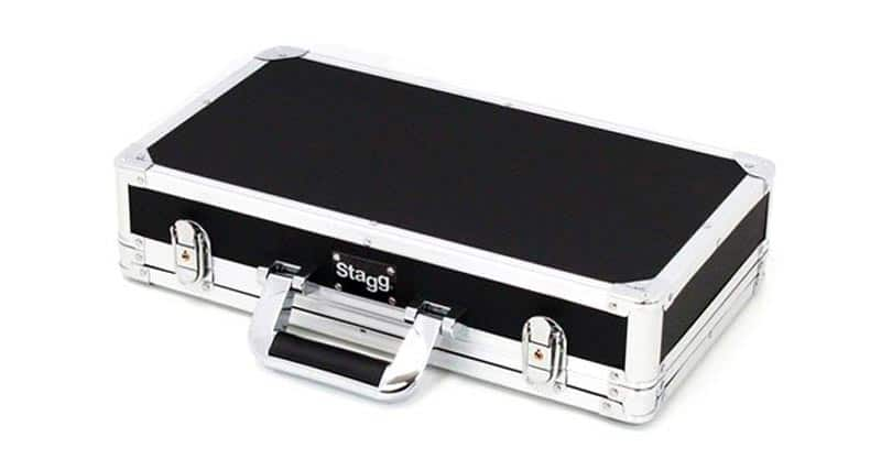 Stagg UPC-424 Guitar Effects Pedal Case With High Density Foam Padded Interior