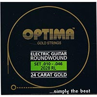 Optima 24 K Gold Plated Electric Guitar Strings