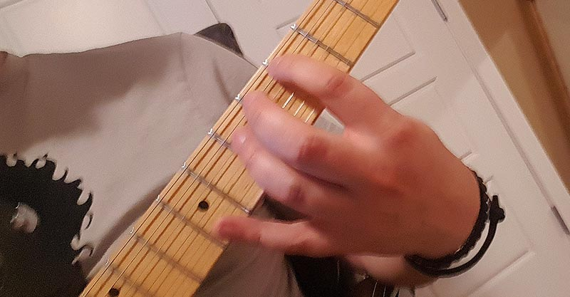 Tuning with harmonics - D string