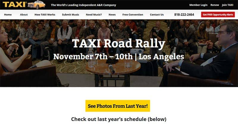 TAXI Road Rally, Some Great Talks
