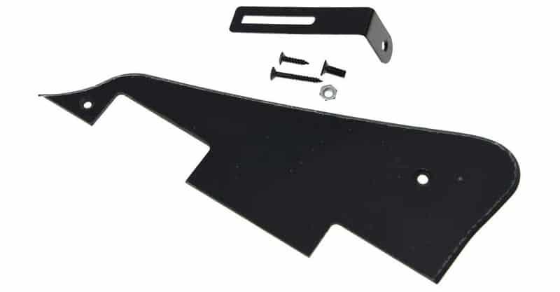 KAISH Single Black 1 Ply LP Guitar Pickguard With Black Bracket