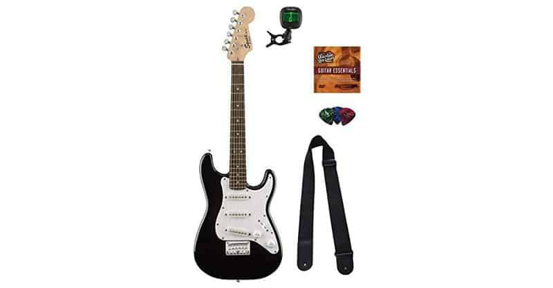 Squier By Fender Mini Strat Electric Guitar Bundle