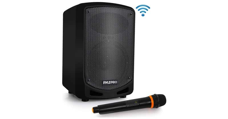 Pyle PSBT65A Bluetooth Karaoke PA Speaker – Indoor/Outdoor Portable Sound System